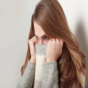 young woman suffering from phobia and anxiety