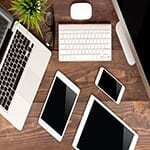 Smartphone, desktop, iPad, or laptop can be used for online therapy