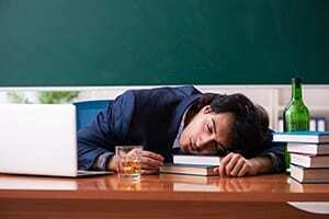 Alcohol abusing college student