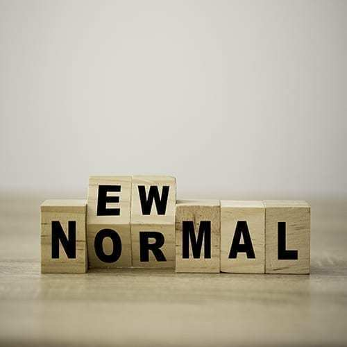 blocks showing the words New Normal