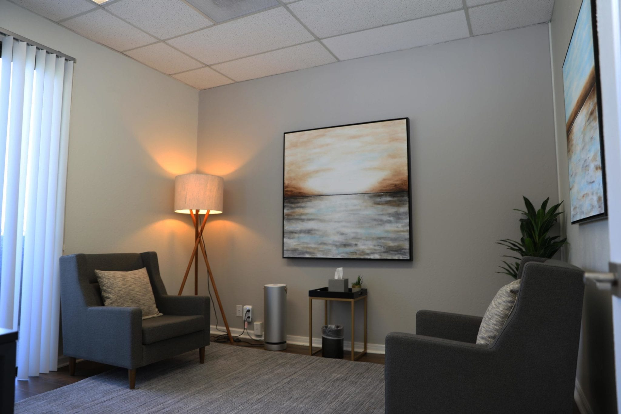 The first therapy office in the office of Ginny Estupinian Ph.D.